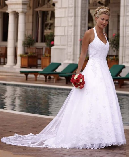 HOT Sexy Halter STYLE Wedding Dress Bridesmaid Bridal Gown Custom
