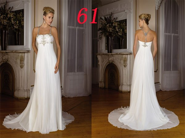 HOT Sexy Halter STYLE Wedding Dress Bridesmaid Bridal Gown Custom