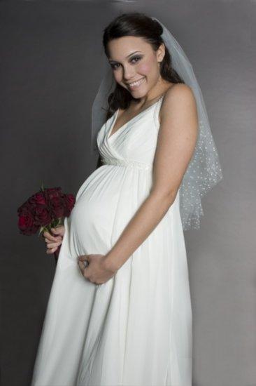 HOT Sexy maternity Wedding Dress Bridesmaid Bridal Gown Custom