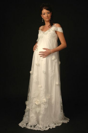 HOT Sexy maternity Wedding Dress Bridesmaid Bridal Gown Custom