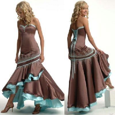 HOT EVENNING Dress Bridesmaid Bridal Gown Custom MAKE