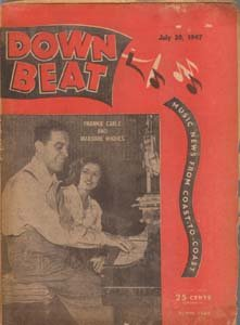Down Beat - July 30, 1947 - Frankie Carle & Marjorie Hughes cover