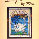 Free Ship ~ IMAGES BY TERRA Stained Glass Pattern Book ~ EUC
