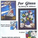 Free Ship ~ SCRIMSHAW FOR GLASS Nancy M Willimon 12 PATTERNS w/Construction Techniques ~ L/N