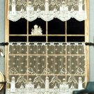 """Free Ship ~ Heritage Lace LIGHTHOUSE CURTAIN COLLECTION Off-White TIER & VALANCE 60""""x24"""" ~ GUC"""