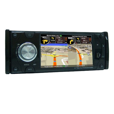 4.3 Inch 1 Din In-Dash Car DVD Player HL-4386 with GPS