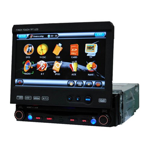 1 Din DIGITAL Touch Screen Panel Car DVD Player HL-7701GB with GPS