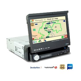 1 Din IN-DASH 7 INCH TFT WIDESCREEN Car DVD Player AL-8008GL With GPS