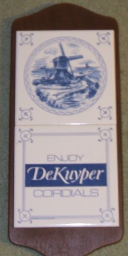 Dekuyper Liquor Sign Like New Made of Ceramic Tiles and Wood