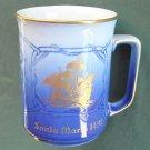 Danish Bing Grondahl Copenhagen Blue Mug Santa Maria 1978 First Edition