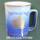 Danish Bing & Grondahl Copenhagen blue mug Santa Maria 1978 First Edition