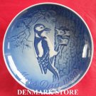 Danish Bing & Grondahl Copenhagen Mothers Day Plate WOODPECKER 1980