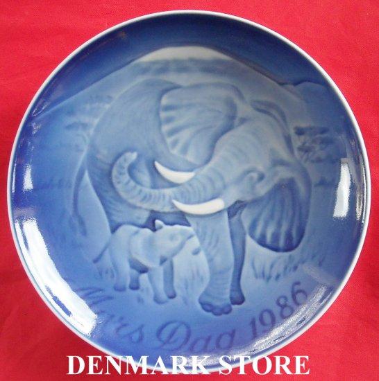 ELEPHANT 1986 Bing & Grondahl Copenhagen Mothers Day Plate