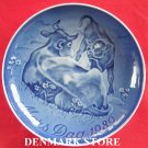 Danish Bing & Grondahl Copenhagen Mothers Day Plate COW 1989