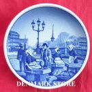 Vintage Danish Aluminia Royal Copenhagen Mini Plate 45 2010 FISKETORVET GAMMEL STRAND KOBENHAVN