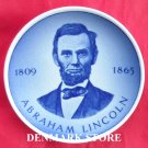 Vintage Danish Aluminia Royal Copenhagen Mini Plate 177 2010 ABRAHAM LINCOLN