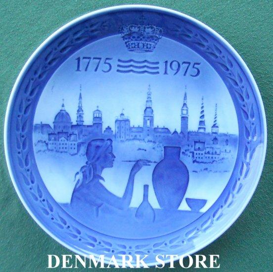 Anniversary Royal Copenhagen Denmark 200 Years Plate 1975