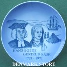 Royal Copenhagen Denmark Memorial Plate 1971