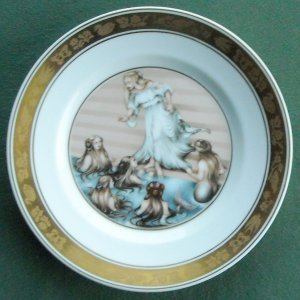 Danish Royal Copenhagen Denmark H C Andersen plate The Little Mermaid