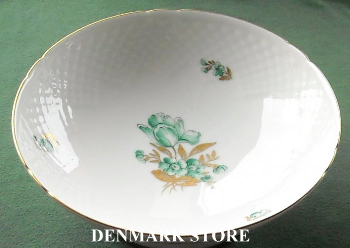 Danish Bing & Grondahl Copenhagen BIG 17 Footed Dish Plate