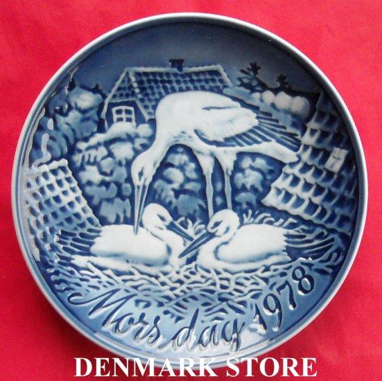 Danish Grande Danica Copenhagen mothers day plate THE STORK NEST 1978