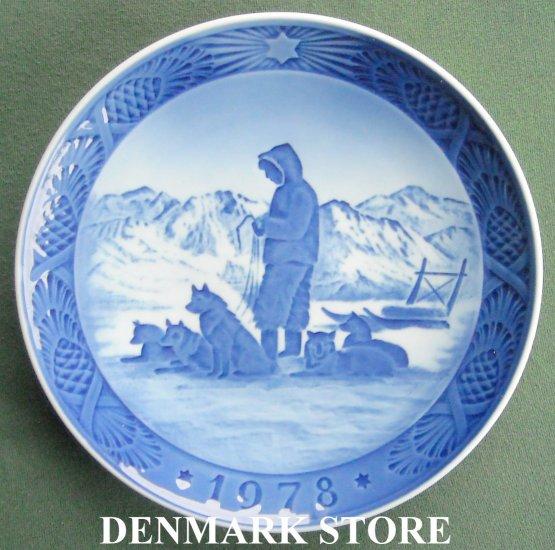 Danish Royal Copenhagen Denmark christmas plate 1978