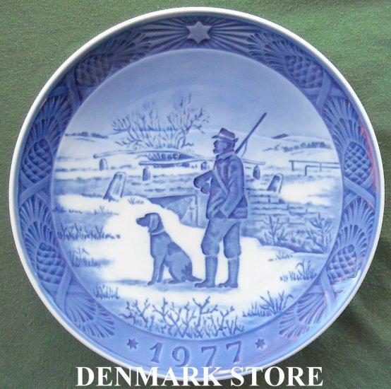 Danish Royal Copenhagen Denmark Christmas Plate 1977