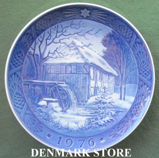 Danish Royal Copenhagen Denmark Christmas Plate 1976