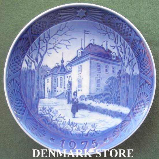 Danish Royal Copenhagen Denmark christmas plate 1975