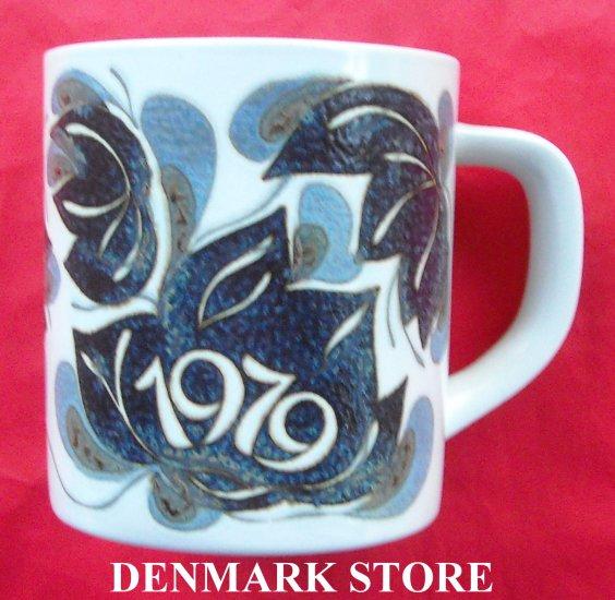Danish Royal Copenhagen Denmark Large Annual Mug 1979