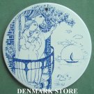 Danish Bjorn Wiinblad Nymolle daybreak morning wall plate blue