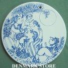 Danish Bjorn Wiinblad Nymolle noon wall plate blue