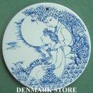 Danish Bjorn Wiinblad Nymolle Twilight wall plate blue