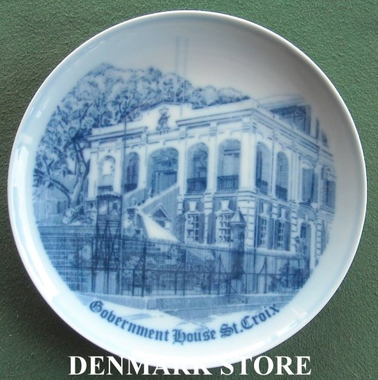 Vintage Bing & Grondahl Copenhagen Government House St. Croix specially made plate