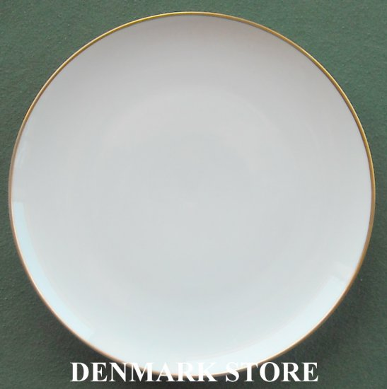 Danish Bing & Grondahl Copenhagen Aarestrup 7 Inch Gold Rim Plate