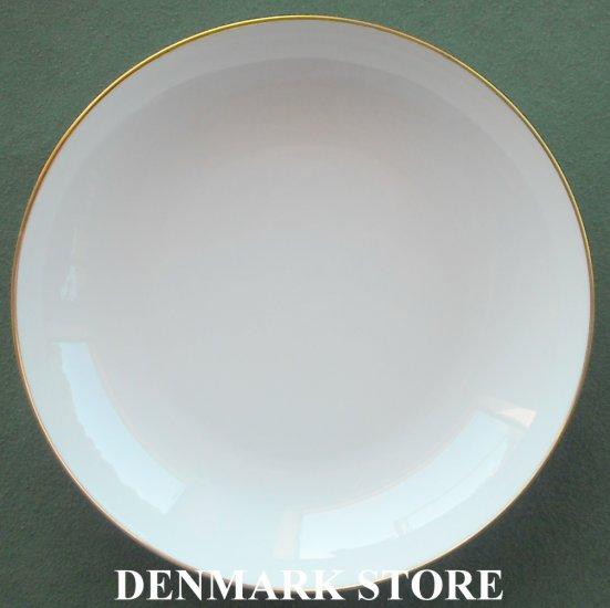 Danish Bing & Grondahl Copenhagen Aarestrup 8 Inch Gold Rim Plate