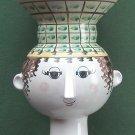 Vintage Rare Danish Bjorn Wiinblad Nymolle Large Head Vase