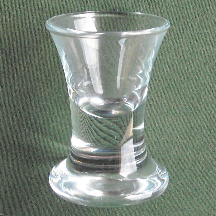 Lot of 2 Danish Holmegaard Copenhagen Snapse Doctor Ridefoged Dram Snaps Glass