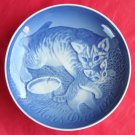 BING & GRONDAHL Copenhagen Mothers Day Plate CAT AND KITTEN 1971