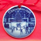 Danish Bing & Grondahl Copenhagen Denmark Christmas In America Ornament 1988