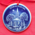 Danish Bing & Grondahl Copenhagen Denmark Christmas in America ornament 1989