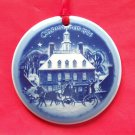 Christmas In America Ornament First Edition Bing & Grondahl Copenhagen Denmark 1986