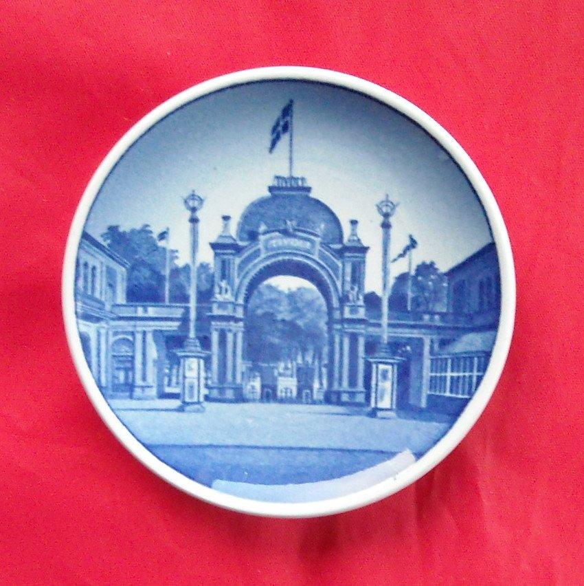 Tivoli Vintage Danish Aluminia Royal Copenhagen plate 32 - 2010
