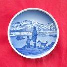 Pa udkig efter far Gronland Vintage Danish Aluminia Royal Copenhagen plate 43 - 2010