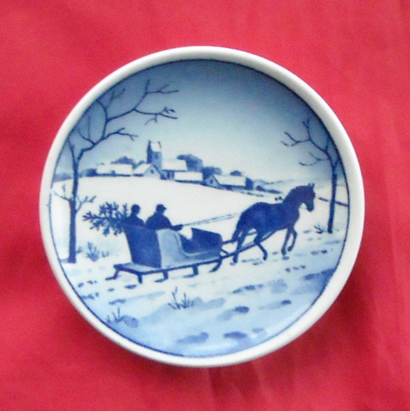 Winter Wonderland Vintage Danish Aluminia Royal Copenhagen Small Plate 3 - 2010