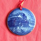 Danish Bing & Grondahl Copenhagen America Home for Christmas ornament 1993