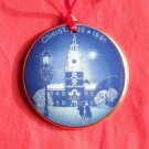Danish Bing & Grondahl Copenhagen Christmas in America Independence Hall ornament 1991
