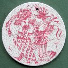Danish Bjorn Wiinblad Nymolle February wall plate red