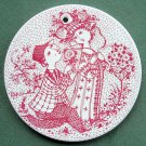 Bjorn Wiinblad Nymolle Denmark June wall plate red
