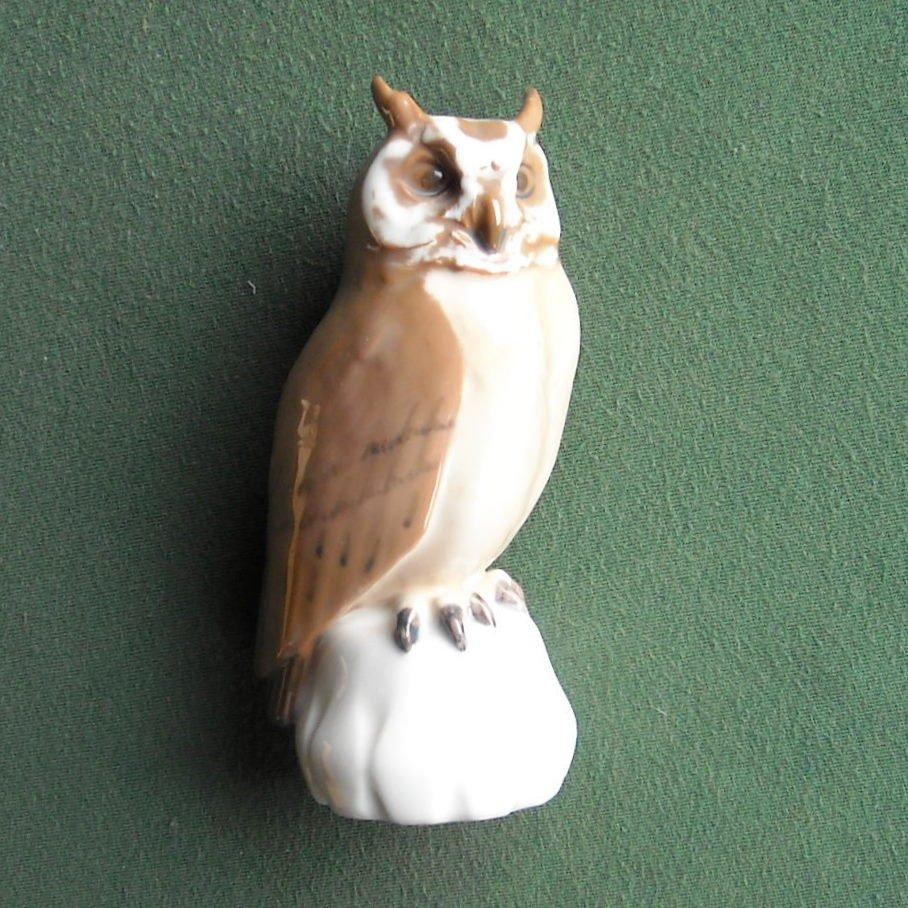 Danish Bing & Grondahl Denmark owl figurine No 1800